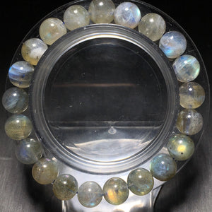 Labradorite 8MM Bead Bracelet SPARKLING Blue Light