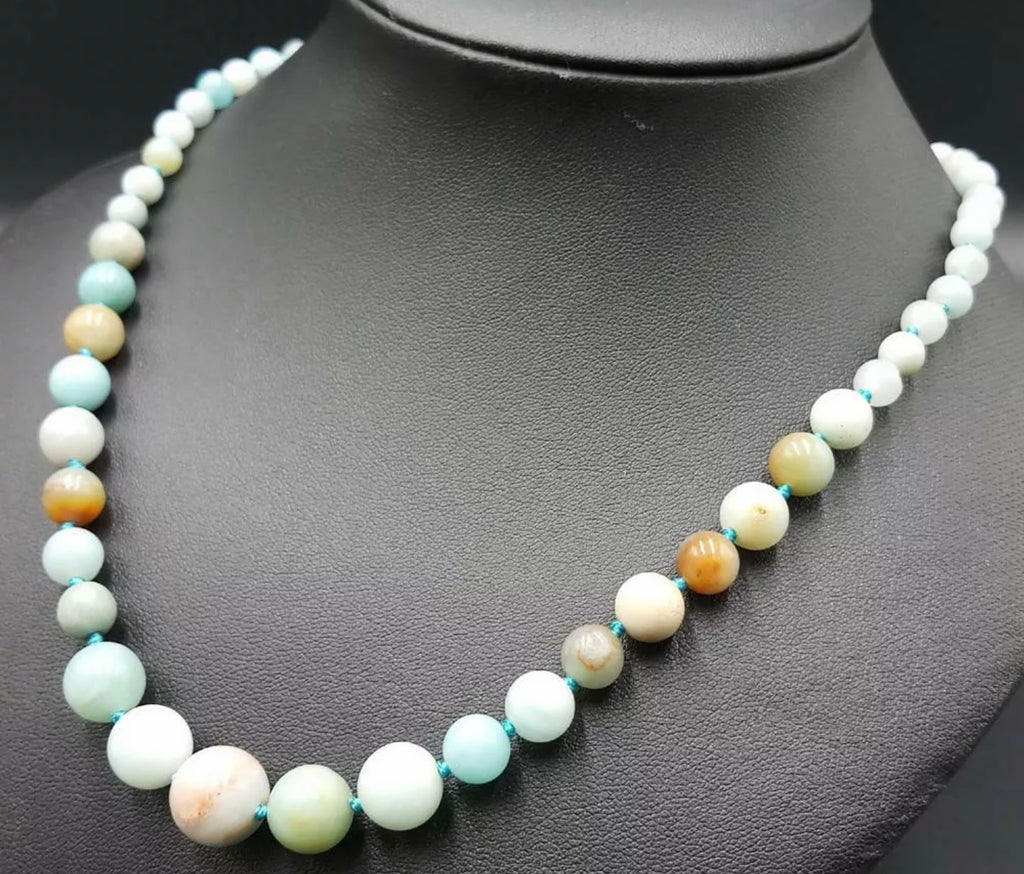 Amazonite 6-12 MM Graduated Bead Necklace