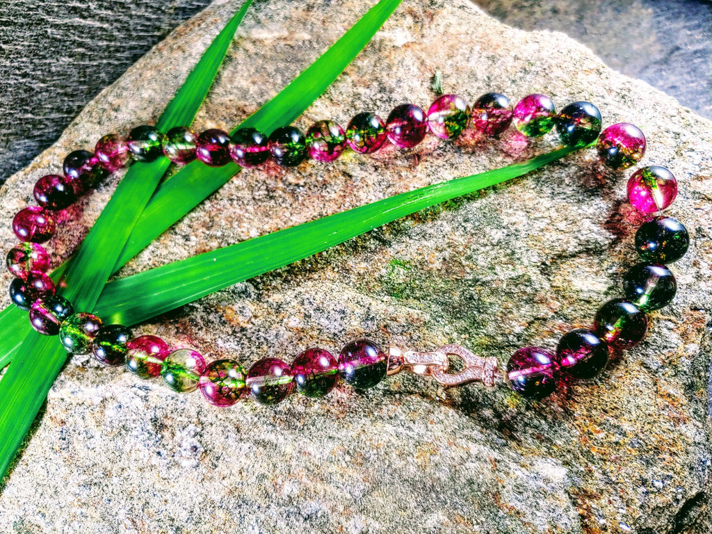 Rainbow Tourmaline Necklace Magical Colors