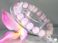 Kunzite pink 10 MM beaded bracelet