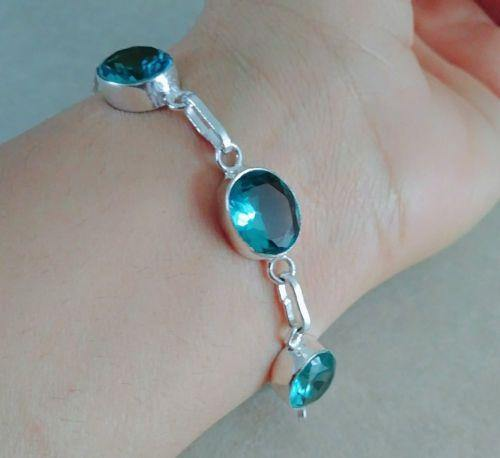 Blue Green Apatite Bracelet - Handcrafted by Artisans