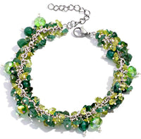 Aventurine Bracelet with Peridot Green Quartz