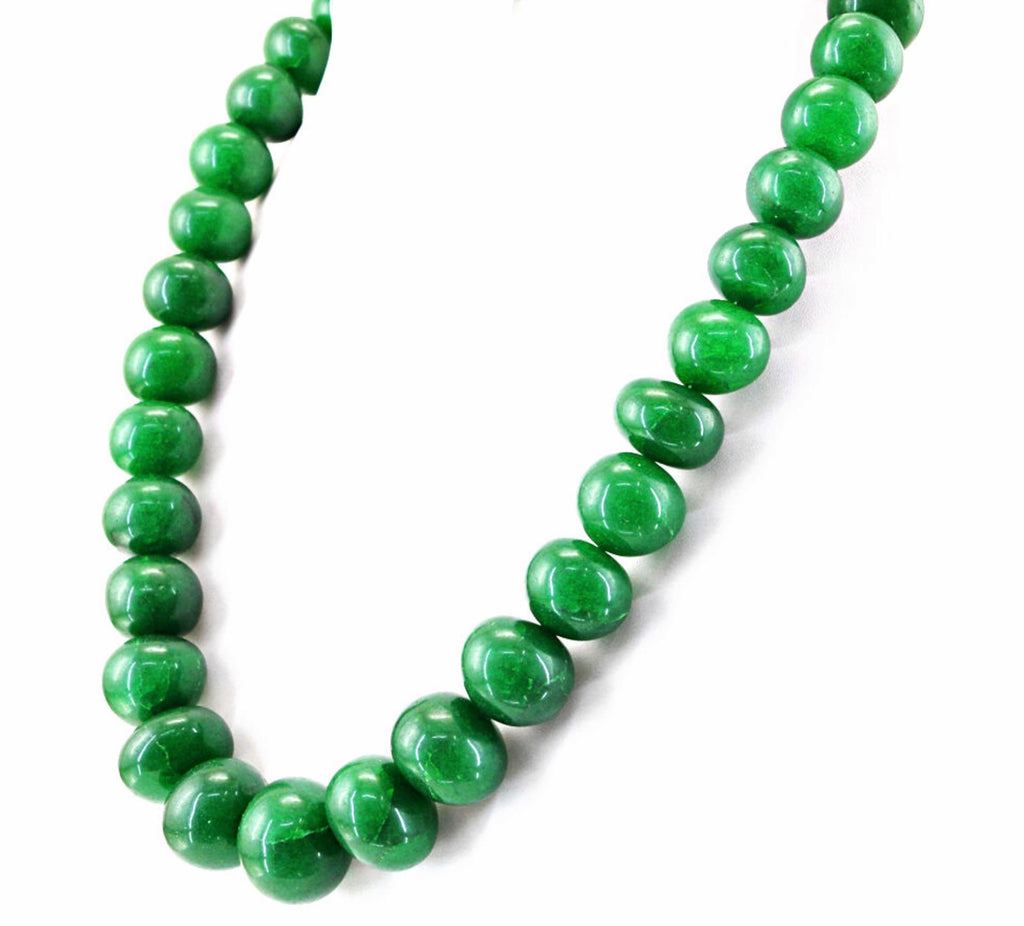 Emerald Necklace, Natural authentic earth mined emerald stones graduated necklace