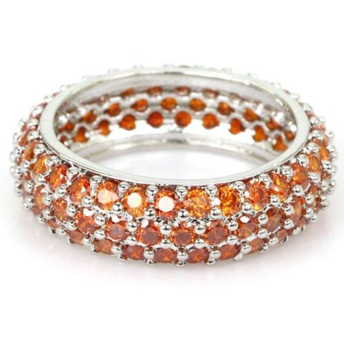 Spessartine Orange Garnet Ring