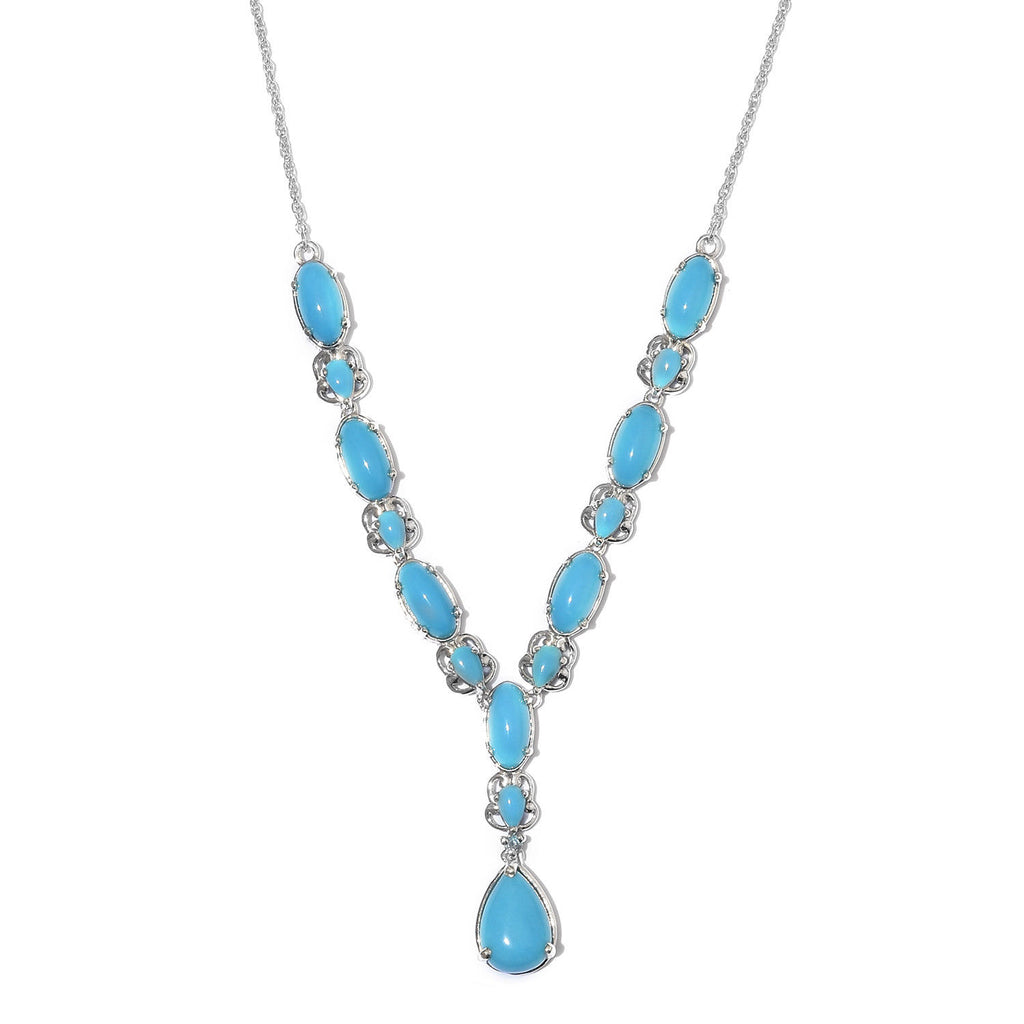 Turquoise Y Necklace - Sleeping Beauty Turquoise