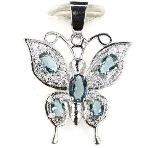 London Blue Butterfly Pendant