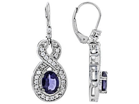Iolite Earrings for Visionaries - Pisces Secrets LLC