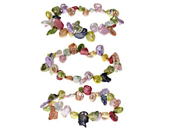 Keshi Colorful Pearl Bracelet Set of 3 - Pisces Secrets LLC