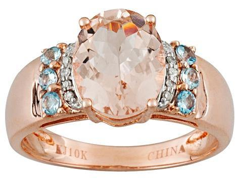 Lovely Pink Morganite 10K Gold Ring - Pisces Secrets LLC