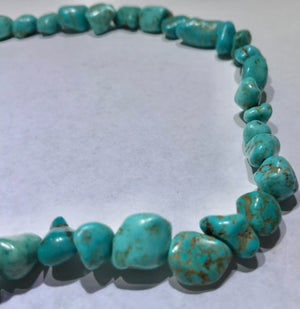 Turquoise Necklace - Natural untreated 333 CTS Persian Sleeping Beauty Turquiose