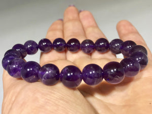 Amethyst Bracelet - Natural 127 CT - 10 MM Beads