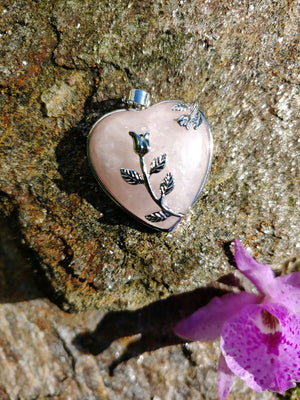 Rose Quartz Pendant - Heart Shaped Pendant