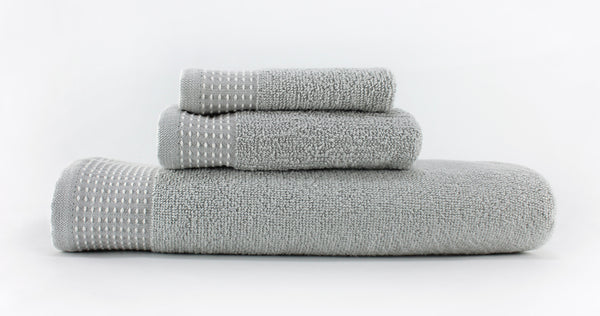 Cicily Hand Towel 16x28 / Grey bath
