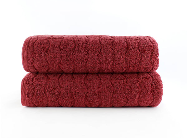 Madison Bath Towel 30x54 / Cayenne Red bath