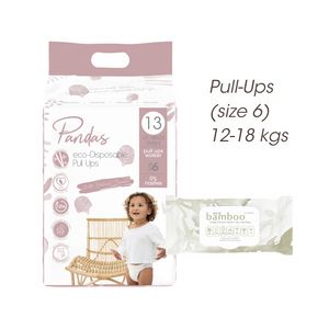 FREE TRIAL Pull-ups (size 6) 12-18kgs ECO PACK // Nappies Wipes - Luvme.eco