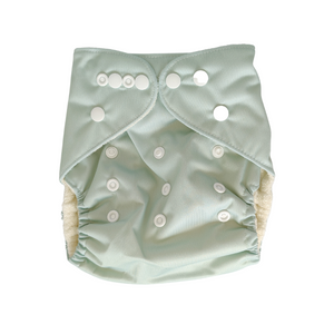 Pandas Modern Cloth Nappy + Insert - Woodland - Luvme.eco