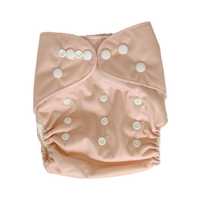 Pandas Modern Cloth Nappy + Insert - Blush - Luvme.eco