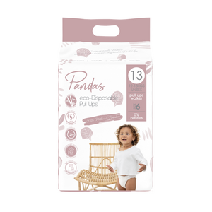 Pandas by Luvme ECO Disposable BAMBOO Pull Ups (size 6) 12-18kg - Luvme.eco