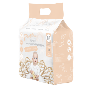 Pandas by Luvme ECO Disposable BAMBOO Nappies MEDIUM 6-11kg - Luvme.eco