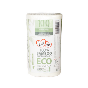 Bamboo Flushable Cloth Nappy Liners - Luvme.eco