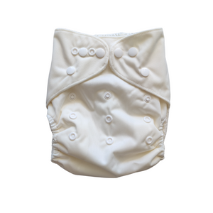 Pandas Modern Cloth Nappy + Insert - Natural - Luvme.eco