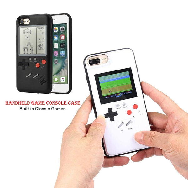 Optional Full Color Display Gameboy Soft Silicone Phone Charger Cover Gameboy phone Case for iPhone 6 6S 7 8 Plus X Classic