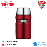 Genuine Thermos King S/Steel Vacuum Insulated Food Jar 710ml