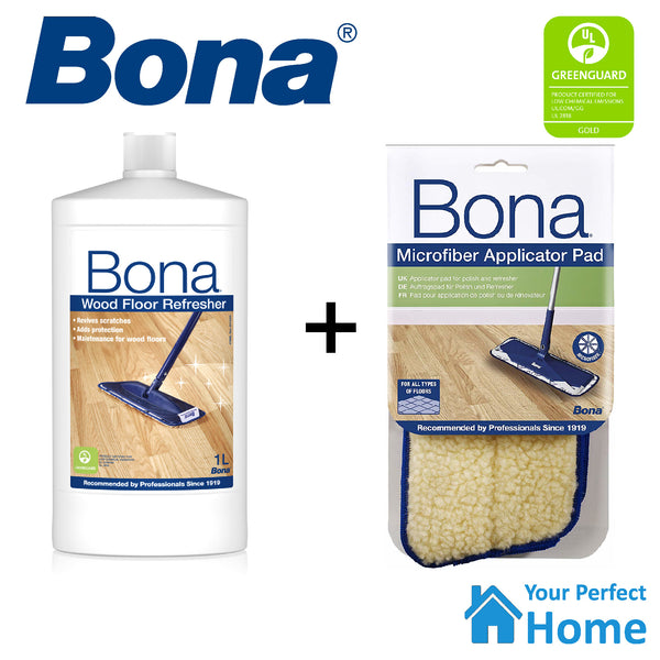 Bona Wood Floor Refresher 1L with Applicator Pad