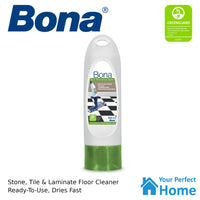 4 x Bona Stone Tile & Laminate Floor Cleaner 850ml Cartridge