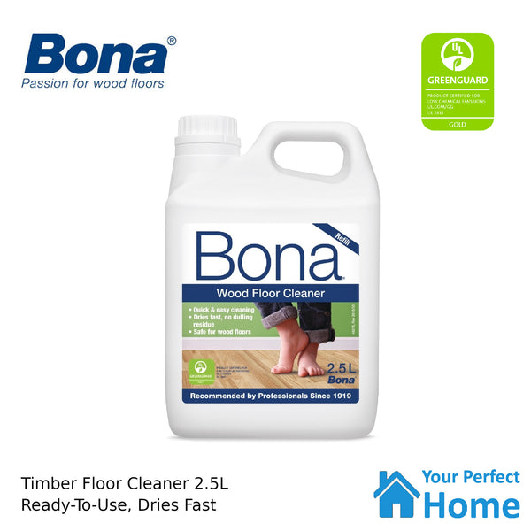 Bona 2.5L Wood Floor Cleaner/Maintenance for Timber/Wooden Surface