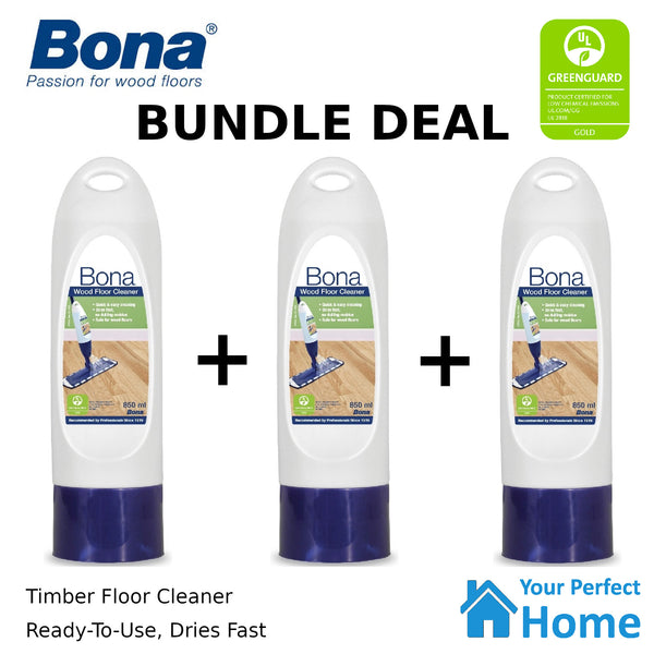 Bona Wood Floor Cleaner 850ml Refillable Cartridge
