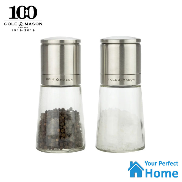 Cole & Mason Clifton Glass Salt & Pepper Gift Mill Set