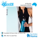 Cheeki 600ml Stainless Steel Insulated Active Sports Water Bottle