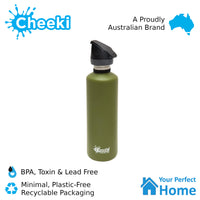 Cheeki 750ml Single Wall Active Stainless Steel Water Bottle
