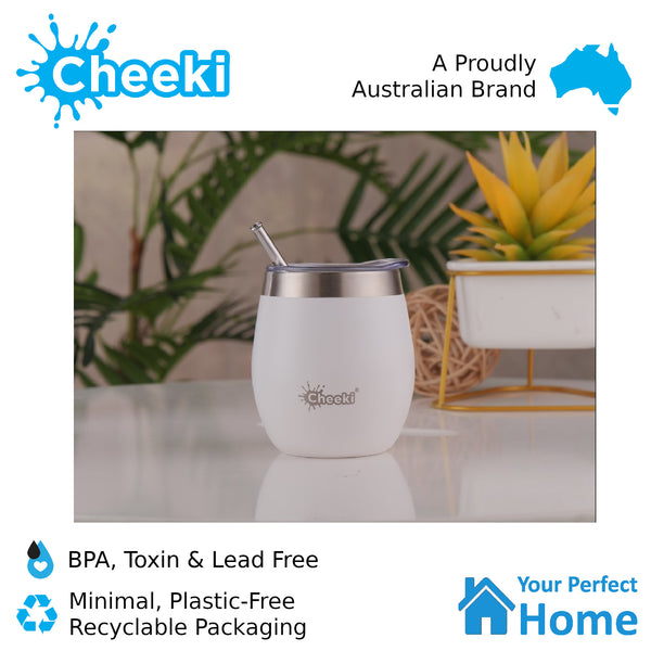 Cheeki 220ml Insulated Wine Tumbler Spirit White