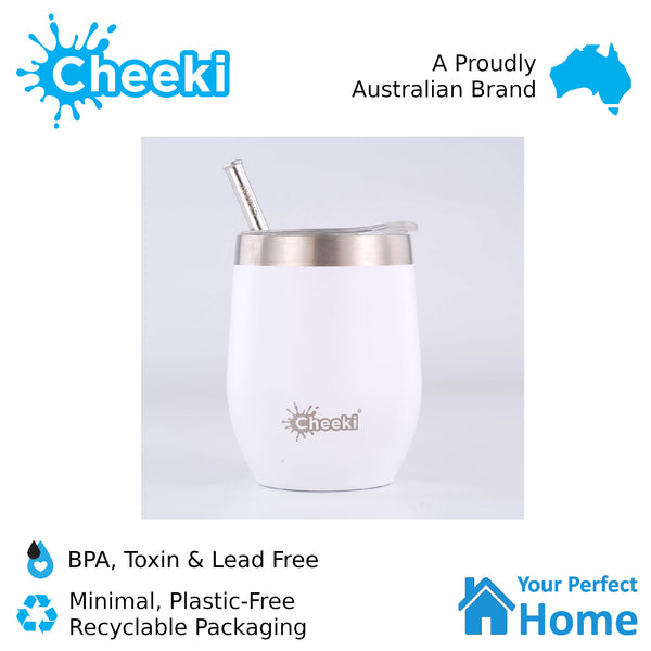 Cheeki 320ml Insulated Wine Tumbler Spirit White