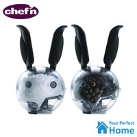 2x Chef'n Mini Magnetic Salt & Pepper Ball Grinder Set