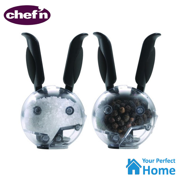 Chef'n Mini Magnetic Salt & Pepper Ball Grinder Set