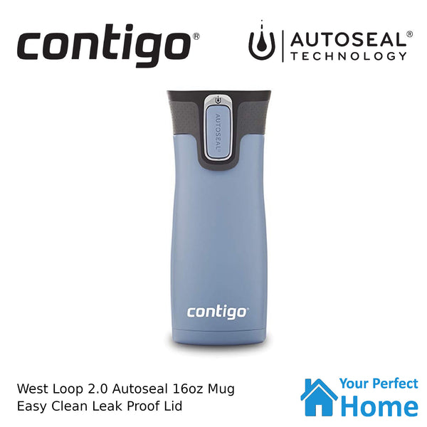 Contigo West Loop Version 2.0 473ml 16oz Autoseal Insulated Travel Coffee Mug Matte Earl Grey