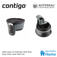 Contigo West Loop Version 2.0 473ml 16oz Autoseal Insulated Travel Coffee Mug Watermelon