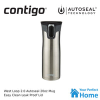 Contigo West Loop Version 2.0 591ml 20oz Autoseal Insulated Travel Coffee Mug Stainless Steel