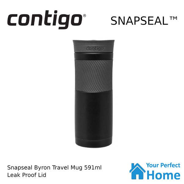 Contigo Snapseal Byron Vacuum Flask Insulated Travel Mug Black