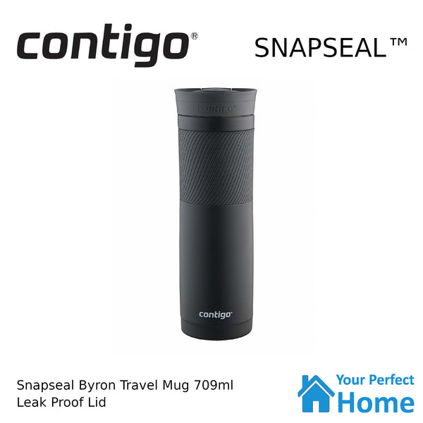 Contigo Snapseal Byron 709ml Vacuum Insulated Travel Mug Black