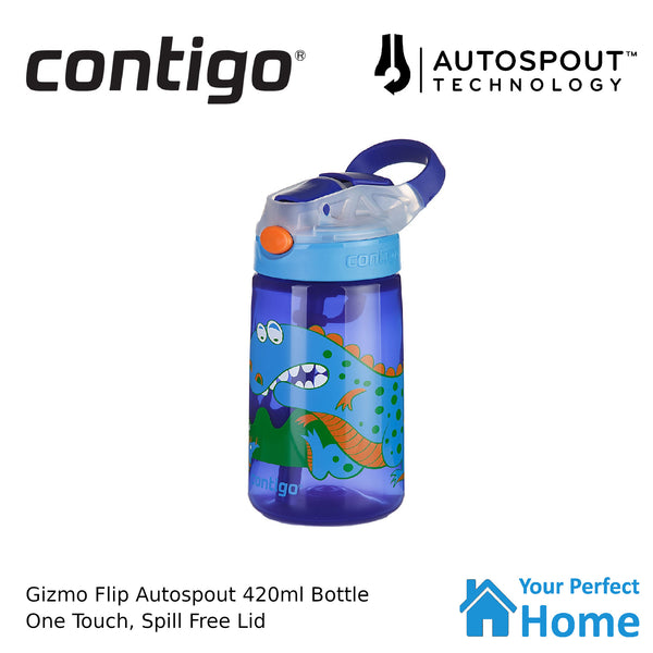 Contigo Autospout Gizmo Flip 420ml Kids Drink Bottle Dino