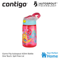 Contigo Autospout Gizmo Flip 420ml Kids Drink Spill Proof Bottle