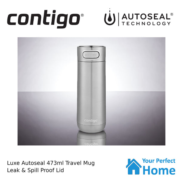 Contigo Luxe Autoseal Vacuum Insulated Travel Mug 16oz 473ml Stainless Steel
