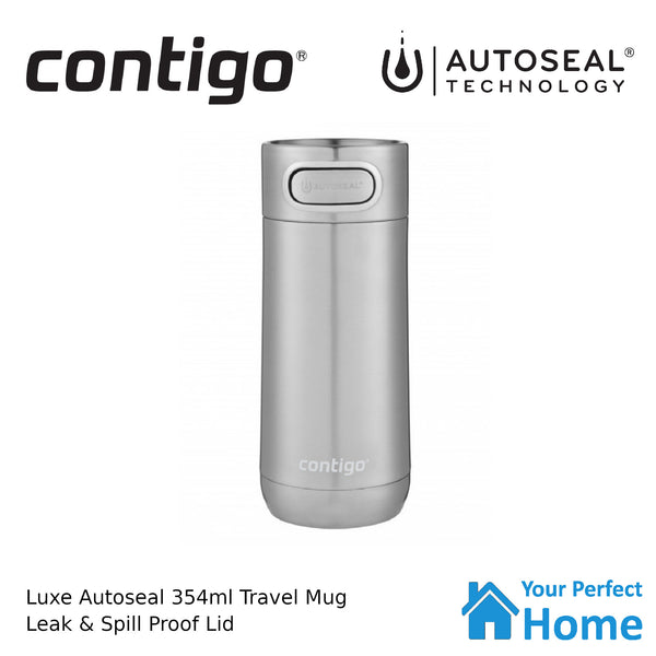 Contigo Luxe Autoseal Vacuum Insulated Travel Mug 354ml Stainless Steel