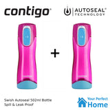 2 x Contigo Autoseal Swish 502ml Water Bottle