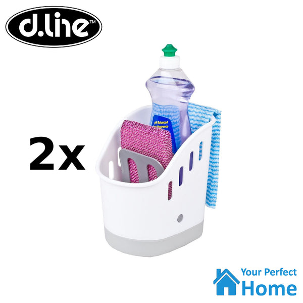 2x D.Line Sink Tidy Organiser Kitchen Caddy Sponge Holder