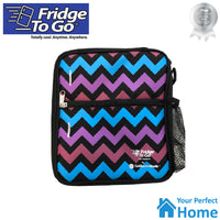 2 x Fridge To Go Medium Insulated Lunch Bag with Cooling Panel
